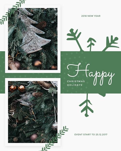 Счастливых новогодних выходных - открытка