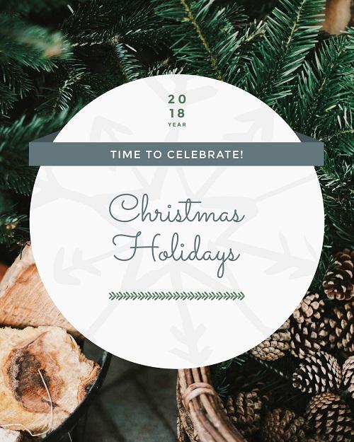 Время праздновать новый год - открытка к празднику