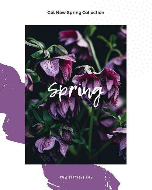 Весенняя открытка лилового цвета