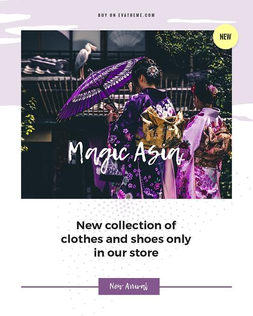 Рекламный шаблон для новой коллекции одежды