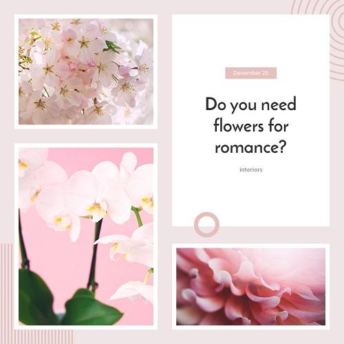 Романтический шаблон для рекламы цветов
