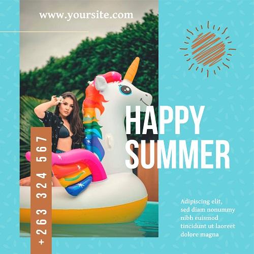 Счастливое лето с надувным единорогом