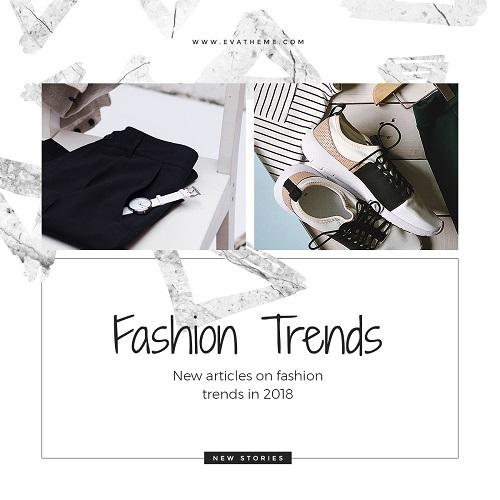 Модные тренды - черно-белый шаблон