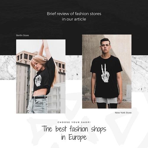 Черно-белый шаблон для модной одежды