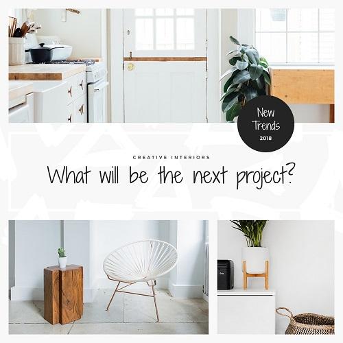 Шаблон нового проекта дизайна интерьера