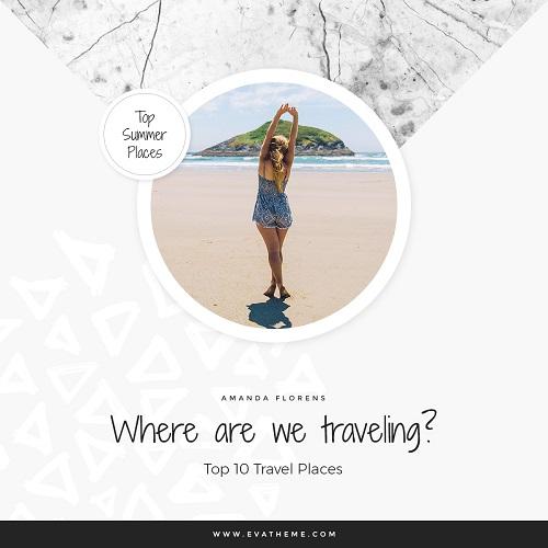 Легкий шаблон про путешествия