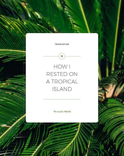 Тропический шаблон с пальмами