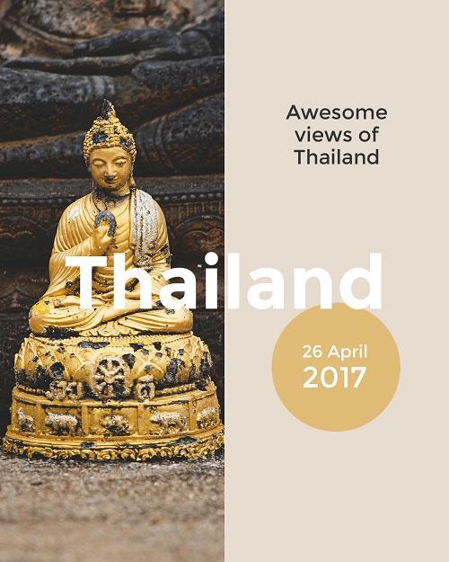 Путешествие в Тайланд - шаблон баннера или флаера