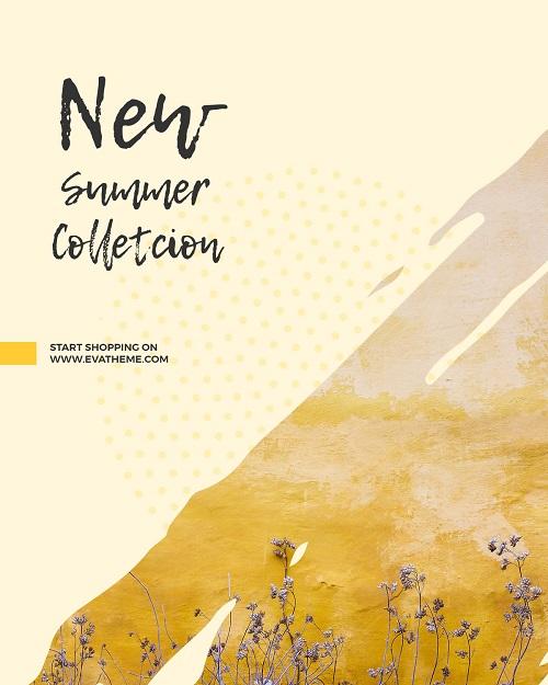 Баннер для новой летней коллекции