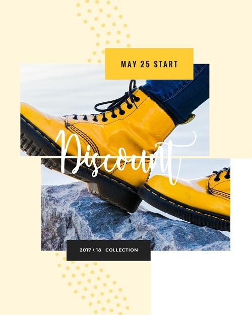 Шаблон для рекламы обуви