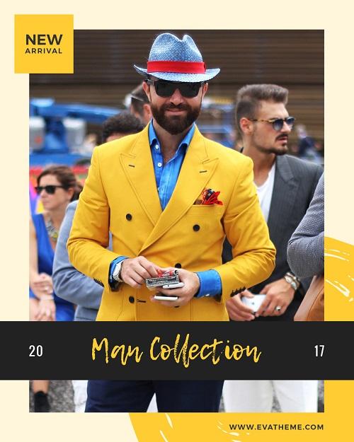 Реклама мужской коллекции одежды