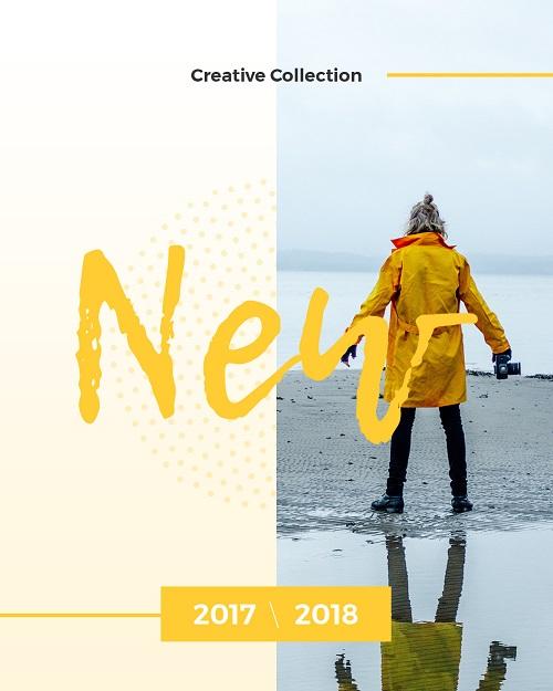Шаблон для рекламы новой коллекции