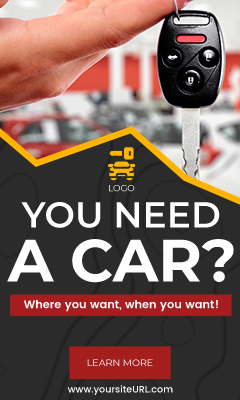 Шаблон рекламы аренды автомобиля