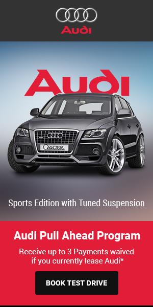 Шаблон для рекламы автомобиля AUDI