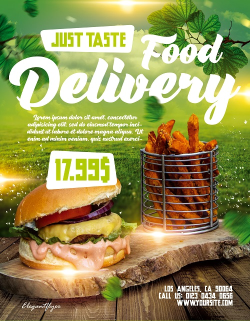Шаблон для доставки эко еды