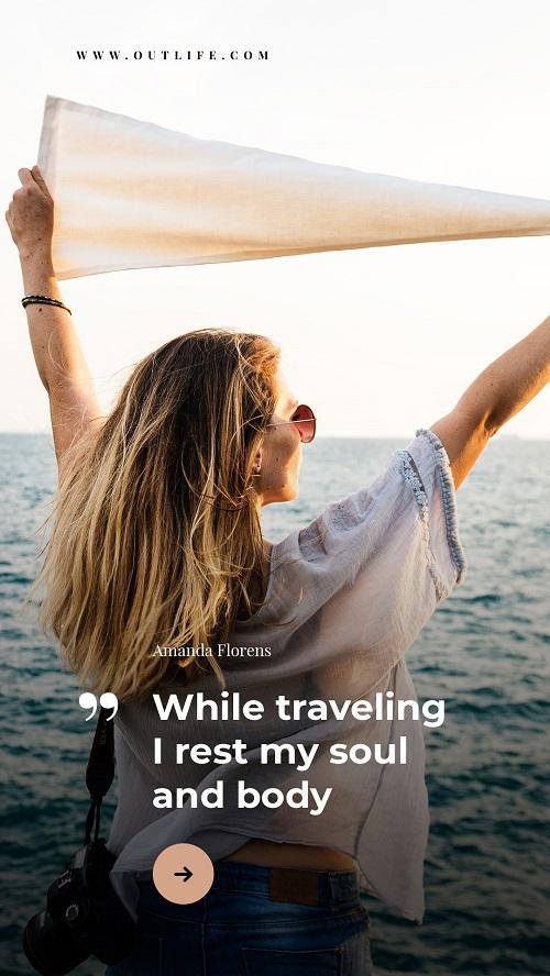 Туристический баннер с фото моря