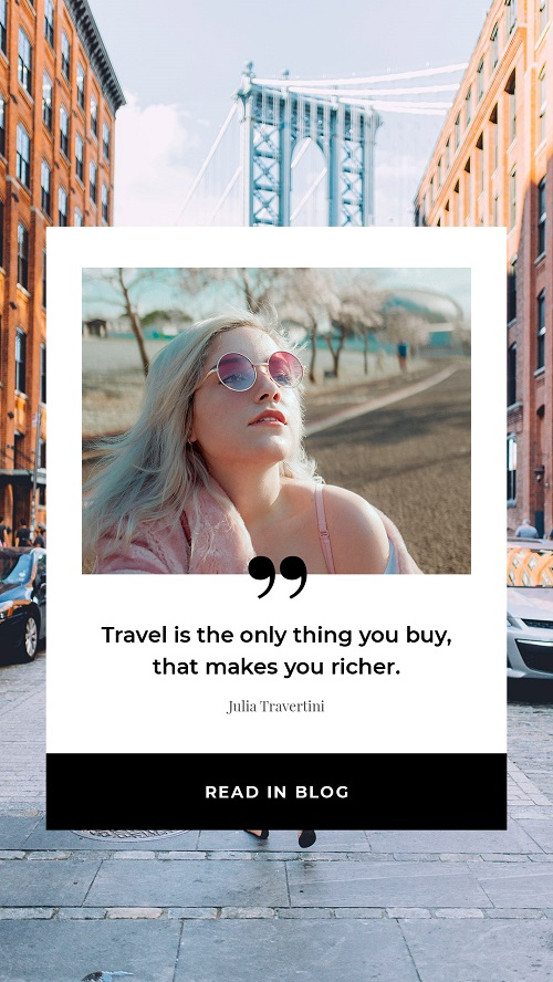 Баннер о путешествиях и туризме