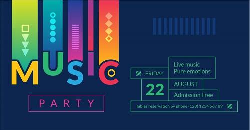 Буклет для музыкальной вечеринки