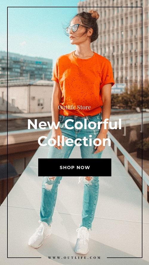 Рекламный баннер для новой коллекции одежды