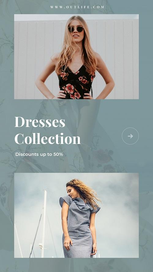 Шаблон для новой коллекции одежды