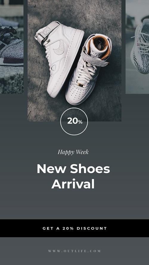 Рекламный шаблон для новой коллекции обуви