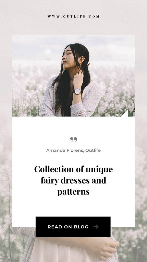 Свежий весенний шаблон для новой коллекции одежды
