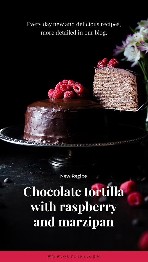 Шаблон для кондитерской - шоколадный торт