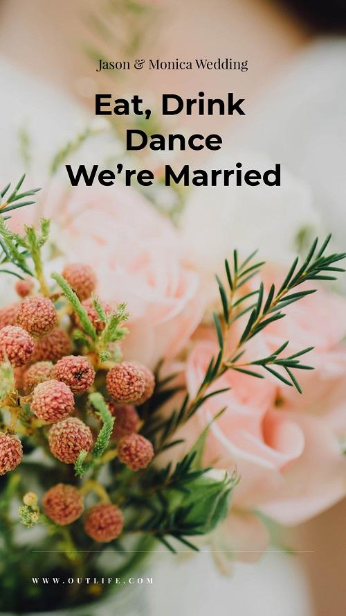 Современный шаблон для свадебного приглашения