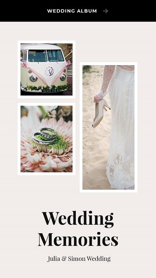 Макет для свадебной галереи