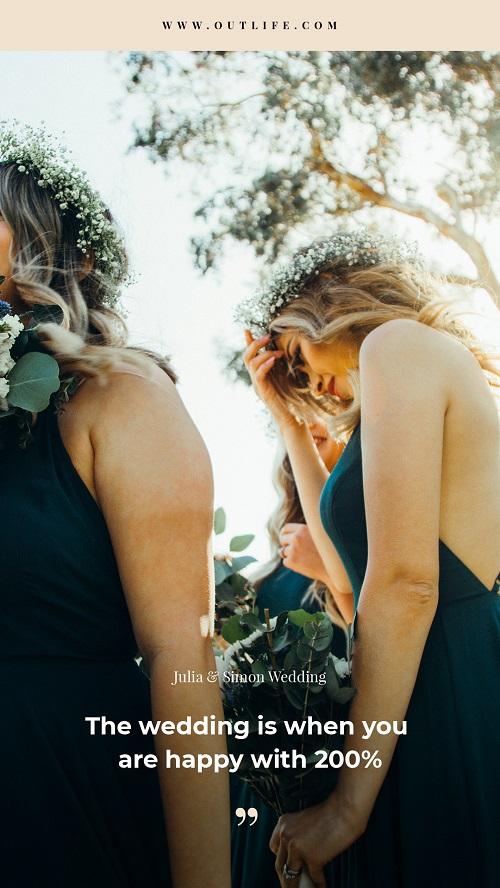 Шаблон для свадебной фотосессии