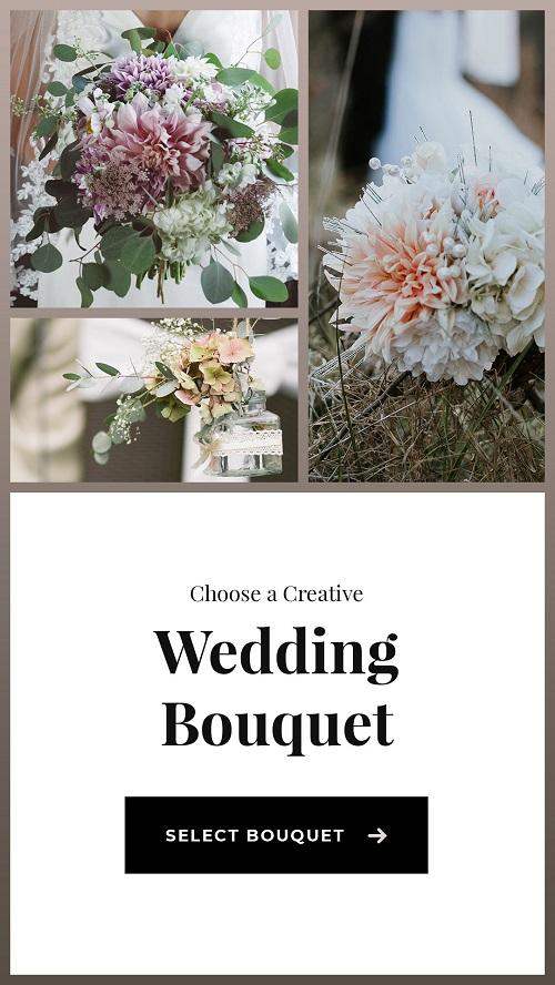 Шаблон для рекламы свадебных букетов
