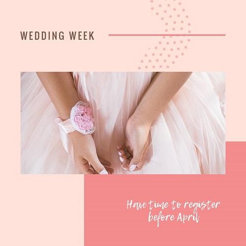 Свадебный шаблон для фотосессии или галереи