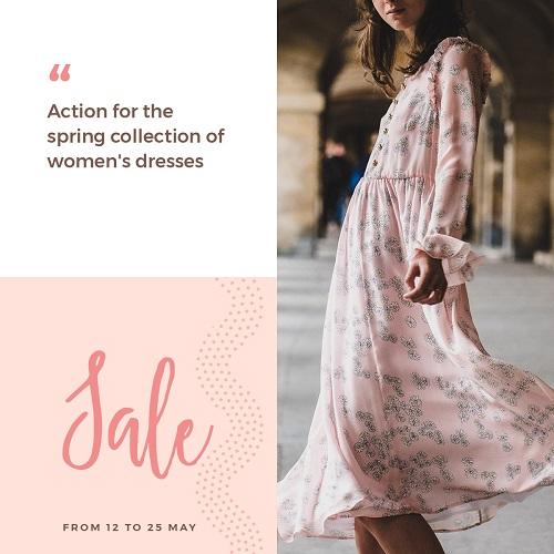 Макет распродажи женской одежды