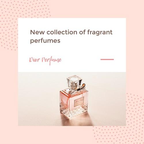 Макет для рекламы парфюмерии