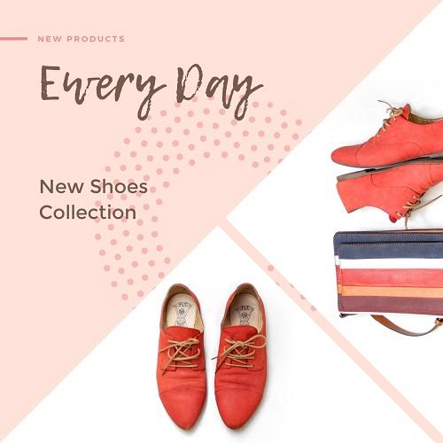 Макет для новой коллекции обуви