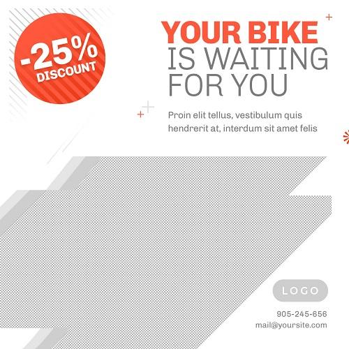 Макет для распродажи велосипедов
