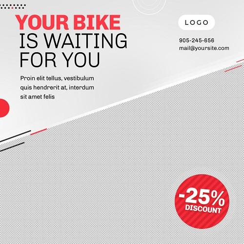 Серый шаблон для магазина велосипедов