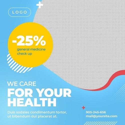 Шаблон для рекламы фитнеса и здоровья