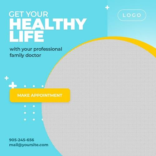Баннер с рекламой здорового образа жизни