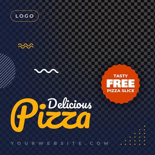 Макет для рекламы пиццы
