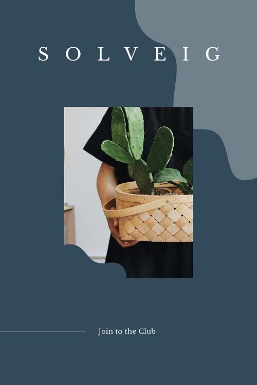 Макет для клуба любителей растений