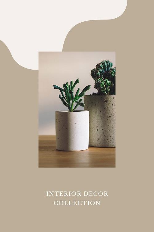 Шаблон обложки для коллекции предметов интерьера
