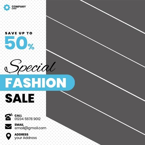 Рекламный шаблон, флаер для распродажи одежды