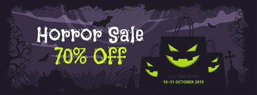 Флаер на распродажу в halloween