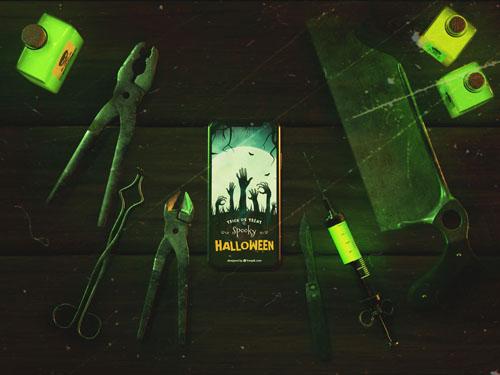 Шаблон на halloween в стимпанк стиле