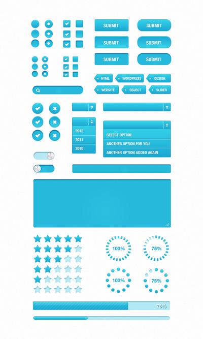 Синие веб-эелемента