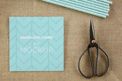 Mockup поздравительной карточки