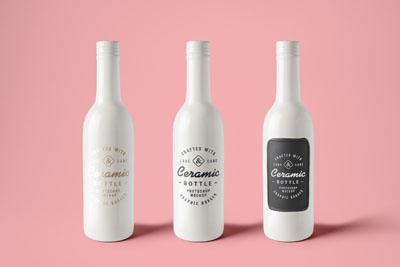 Мокап бутылок белого цвета