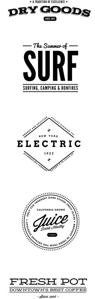 Исходник винтажных логотипов