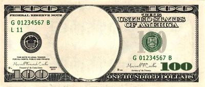 Исходник долларовой купюры